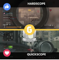 Hardscoping? Quickscoping? That's the ultimate debate among the sniping community. I prefer hardscope, to be honest.: on a 15 Kill Streak!  *Killer*Wolf 970  GROUND WAR  37  On a 5 Kill Streak  HARDSCOPE  00  Kill  13  Barrett Soca  QUICK SCOPE Hardscoping? Quickscoping? That's the ultimate debate among the sniping community. I prefer hardscope, to be honest.