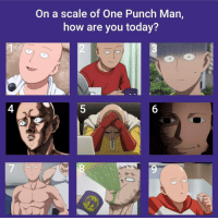 How Are You Today: On a scale of One Punch Man,  how are you today?  ATION