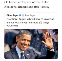 "Alive, Ass, and Bad: On behalf of the rest of the United  States we also accept this holiday  Okayplayer @okayplayer  It's official! August 4th will now be known as  Barack Obama Day' in Illinois. bit.ly/  BODIllinois <p><a href=""https://themilitaryindustrialcomplex.tumblr.com/post/171603577542/libertarirynn-rightwingmischling"" class=""tumblr_blog"">themilitaryindustrialcomplex</a>:</p> <blockquote> <p><a href=""https://libertarirynn.tumblr.com/post/171603163994/rightwingmischling-libertarirynn"" class=""tumblr_blog"">libertarirynn</a>:</p> <blockquote> <p><a href=""https://rightwingmischling.tumblr.com/post/171602452980/libertarirynn-rightwingmischling"" class=""tumblr_blog"">rightwingmischling</a>:</p>  <blockquote> <p><a href=""https://libertarirynn.tumblr.com/post/171601630809/rightwingmischling-thevoluntaryist"" class=""tumblr_blog"">libertarirynn</a>:</p> <blockquote> <p><a href=""https://rightwingmischling.tumblr.com/post/171595903065/thevoluntaryist-perspectivemax-he-murdered"" class=""tumblr_blog"">rightwingmischling</a>:</p>  <blockquote> <p><a href=""https://thevoluntaryist.tumblr.com/post/171589116469/perspectivemax-he-murdered-children-just-like-the"" class=""tumblr_blog"">thevoluntaryist</a>:</p> <blockquote> <p><a href=""https://perspectivemax.tumblr.com/post/171588620303/he-murdered-children-just-like-the-presidents"" class=""tumblr_blog"">perspectivemax</a>:</p> <blockquote><p>He murdered children just like the presidents before him. Why should he get a day?</p></blockquote> This is the man Illinois is celebrating.<ul><li> <a href=""https://t.umblr.com/redirect?z=http%3A%2F%2Fwww.politifact.com%2Ftexas%2Fstatements%2F2016%2Foct%2F21%2Fjill-stein%2Fjill-stein-green-party-candidate-correct-about-us-%2F&amp;t=M2FiMjA3YzlhNzU4NTQyMjYzY2I5OTlkZjlkZDk5OGMwYjc2OTlhNixudjVHdjJkcQ%3D%3D&amp;p=&amp;m=0"">He bombed seven nations at once</a>. Families literally sleep in the same room so if there's a drone strike they die together. <br/></li> <li>He initiated the habit of <a href=""https://t.umblr.com/redirect?z=https%3A%2F%2Fwww.theatlantic.com%2Fpolitics%2Farchive%2F2012%2F05%2Funder-obama-men-killed-by-drones-are-presumed-to-be-terrorists%2F257749%2F&amp;t=ZmJlNDY5ZjJmYWE2YzRhYTE4NjViYjQxMjQ5YmQ2NzZmNjQwM2M2MixudjVHdjJkcQ%3D%3D&amp;p=&amp;m=0"">designating all males over 17 as enemy combatants if they're in the area of targets to ""decrease"" the civilian death counts</a>. <br/></li> <li>He made it policy that <a href=""https://t.umblr.com/redirect?z=https%3A%2F%2Fen.wikipedia.org%2Fwiki%2FAnwar_al-Awlaki&amp;t=YzYyYzBiNTk4ZmFiMzcwMmNhYmQxNmQ3NDY5MmI1OGJjMWJkZjY2NSxudjVHdjJkcQ%3D%3D&amp;p=&amp;m=0"">US citizens can be killed if they're in foreign nations</a>. <br/></li> <li>He made <a href=""https://t.umblr.com/redirect?z=https%3A%2F%2Fen.wikipedia.org%2Fwiki%2FAbdulrahman_al-Awlaki&amp;t=YWMzMjcyMGJjNmU4NWEwMDRjOTY1NDk3ODhjNWY2YmI3ZWM1NmQ4YixudjVHdjJkcQ%3D%3D&amp;p=&amp;m=0"">teenagers primary targets</a>. <br/></li> <li>He <a href=""https://t.umblr.com/redirect?z=http%3A%2F%2Fwww.snopes.com%2Fobama-deported-more-people%2F&amp;t=MzU2YWE5Zjc4ODVjMzU5YTY3ZmM5MmJjM2FkYzRlOTI4MGFlZmViMyxudjVHdjJkcQ%3D%3D&amp;p=&amp;m=0"">deported more people than any other president</a> back to the violence they fled from.</li> <li> He <a href=""https://t.umblr.com/redirect?z=http%3A%2F%2Fwww.politifact.com%2Fpunditfact%2Fstatements%2F2014%2Fjan%2F10%2Fjake-tapper%2Fcnns-tapper-obama-has-used-espionage-act-more-all-%2F&amp;t=MDhlZDEyMzBjNTUzZDJmM2IzMDZlMmIxZWNkOWY2YTU4N2IzN2U1ZCxudjVHdjJkcQ%3D%3D&amp;p=&amp;m=0"">prosecuted and jailed more whistleblowers than any other president</a>. <br/></li> <li>He <a href=""https://t.umblr.com/redirect?z=http%3A%2F%2Fwww.washingtontimes.com%2Fnews%2F2013%2Fapr%2F24%2Fbush-policies-still-alive-in-obama-white-house%2F&amp;t=MjlhNzI5MmFiYTM5ZDdjNzJkZTkwNDg5ZWViODM0ZDZjMGY5YmViNyxudjVHdjJkcQ%3D%3D&amp;p=&amp;m=0"">continued</a> and <a href=""https://t.umblr.com/redirect?z=http%3A%2F%2Fwww.alternet.org%2Fstory%2F144449%2Fobama_far_outdoes_bush_in_escalating_war_--_the_numbers_will_surprise_you&amp;t=OGY1MTAxNWY4NmQxMTUyNzViNzdlOTQ4NmNiMWViMzBhZjQ4ZTIyNCxudjVHdjJkcQ%3D%3D&amp;p=&amp;m=0"">escalated</a> <a href=""https://t.umblr.com/redirect?z=http%3A%2F%2Fthehill.com%2Fpolicy%2Fnational-security%2F243850-obama-signs-nsa-bill-renewing-patriot-act-powers&amp;t=MjY0NjJjMjUxOTNlN2Q4NWQ0ZTJkY2FkOTY0MDMyN2Y4ZTc3NWE1YyxudjVHdjJkcQ%3D%3D&amp;p=&amp;m=0""> every</a> <a href=""https://t.umblr.com/redirect?z=http%3A%2F%2Fwww.pbs.org%2Fwgbh%2Ffrontline%2Farticle%2Fobama-on-mass-government-surveillance-then-and-now%2F&amp;t=NzljM2UxYWY5NTljZTBhN2E4MjExMjA4MjM1ZmQxMjdjNWUyMWVhMixudjVHdjJkcQ%3D%3D&amp;p=&amp;m=0"">one</a> of Bush juniors policies and <a href=""https://t.umblr.com/redirect?z=https%3A%2F%2Fwww.democracynow.org%2F2016%2F10%2F11%2Fobama_is_killing_yemen_a_yemeni&amp;t=MTFjNjhkZTQ1NGQ0NDdkNGZmZTZmMmFiNDRiZDFmZmM3YTFmNmNmOCxudjVHdjJkcQ%3D%3D&amp;p=&amp;m=0"">associated his name with terror</a> the world over.</li> <li>He <a href=""https://t.umblr.com/redirect?z=https%3A%2F%2Fwww.theguardian.com%2Fcommentisfree%2F2017%2Fjan%2F09%2Famerica-dropped-26171-bombs-2016-obama-legacy&amp;t=MWRhNzU2MDJmMTk0YzQ0NDVkMjk4NTkzMGVlNjZmOTkxYzBjYjg4NixudjVHdjJkcQ%3D%3D&amp;p=&amp;m=0"">dropped 26,000 bombs</a> in the final year of his presidency.</li> <li>He was the <a href=""https://t.umblr.com/redirect?z=http%3A%2F%2Ftheantimedia.org%2Fthat-awkward-moment-when-one-nobel-peace-prize-winner-bombs-another%2F&amp;t=NjM4NDAyYzczYzcwZDAzZGI4ZDAyYTk4NTBhNWQ0MTM1MDkzMDlkZSxudjVHdjJkcQ%3D%3D&amp;p=&amp;m=0"">only Nobel Peace Prize winner to bomb another Nobel Peace Prize winner.</a> </li> <br/></ul></blockquote> <p>&gt;implying deporting illegas and killing terrorist is bad</p> </blockquote>  <p>He killed innocent children you absolute walnut.</p> </blockquote> <p>Did he do it on purpose ? When you are at war civilian get killed. </p> </blockquote>  <p>How about the expansion of the NSA? How about ordering drone strikes on American citizens? How about literally every other thing listed up there that you skipped over to go ""hurr durr at least he killed terrorists""? Are you fucking serious right now?</p> <p>And to all you clowns saying ""other presidents did it too!"" no shit. Never said they didn't. I'm just tired of people kissing Obama's ass and acting like he's God's gift to man instead of a warmonger just because he plays basketball and sounds more eloquent than Trump.</p> </blockquote> <p>  ""When you are at war civilian get killed."" </p> <p>Yea, maybe, <i>maybe</i> that would be acceptable reasoning in a conventional war between 2 or more nations during times of total war. </p> <p>But the war in Yeman, Iraq, and Afghanistan aren't total wars, they're ""conflicts"". A good portion of those civilians being bombed have no stake at all in the the wider conflict, most don't even know who's fighting and why, they have nothing to do with anything. </p> <p>We just decided to conduct operations in the region for our specific interest and target a very specific group that operates independently from the country's government and larger populations. We have no right what so ever to kill civilians. </p> <p>That would be like if Russia started putting predator drones over California and said ""don't worry we're only targeting Bloods"", and then proceeded to bomb random weddings and birthday parties and sporting events on the off chance that one or more individuals in said gathering <i>might</i> be a Blood. </p> <p>And then everyone gets mad and some idiot online says ""why are you getting mad it's a war deaths happen""<br/></p> </blockquote> <p>Exactly. It blows my mind to see so-called conservatives actually defend this trash heap for escalating conflict in the Middle East because ""muh dead terrorists tho"".</p>"