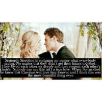 + Agree or Disagree? · - @mademoiselleforbes: On  CO  Seriously Steroline is end game no matter what everybody  O matter that they di  re together.  hey loved each other so deeply and they respect each other's  choice. Nobody can say this isn't a true love. When Stefan died  he knew that the most beautiful thing ever.  think this was  ore ver an + Agree or Disagree? · - @mademoiselleforbes