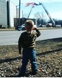On February 16th this (One of ours) Three-year old Leiland Burg salutes fallen firefighter Douglas McCauley in Des Moines. respect rip: On February 16th this (One of ours) Three-year old Leiland Burg salutes fallen firefighter Douglas McCauley in Des Moines. respect rip
