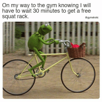 Gym, Free, and Squat: On my way to the qym knowing I will  have to wait 30 minutes to get a free  squat rack.  @gymaholic On my way to the gym knowing  I will have to wait 30 minutes to get a free squat rack.  More motivation: https://www.gymaholic.co  #fitness #motivation #gymaholic