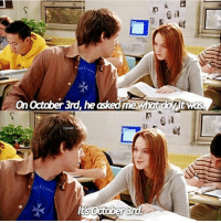 It's October 3rd😃 Happy mean girls day🎉🎈🎉💖👏: On October 3rd, he asked me Wh  TLOAW  Its October  was It's October 3rd😃 Happy mean girls day🎉🎈🎉💖👏