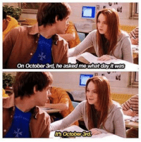 Girls, Memes, and Mean: On October 3rd, he asked me what dayit was Mean Girls Day 💕 https://t.co/gOCSi0eZb3