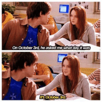 Happy Mean Girls day 😹💞: On October 3rd, he asked me what dayit was  October 3rd  Its Happy Mean Girls day 😹💞