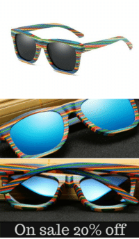 "<p><a href=""https://novelty-gift-ideas.tumblr.com/post/173265963368/multi-color-polarized-wooden-sunglasses"" class=""tumblr_blog"">novelty-gift-ideas</a>:</p><blockquote><p><b><a href=""https://modernfamille.com/collections/new-arrival-multi-color-sunglasses/products/ezreal-polarized-wooden-sunglasses-men-bamboo-sun-glasses-women-brand-designer-original-wood-glasses-oculos-de-sol-masculino"">  Multi-color polarized Wooden Sunglasses  </a></b><br/></p></blockquote>: On sale 20% off <p><a href=""https://novelty-gift-ideas.tumblr.com/post/173265963368/multi-color-polarized-wooden-sunglasses"" class=""tumblr_blog"">novelty-gift-ideas</a>:</p><blockquote><p><b><a href=""https://modernfamille.com/collections/new-arrival-multi-color-sunglasses/products/ezreal-polarized-wooden-sunglasses-men-bamboo-sun-glasses-women-brand-designer-original-wood-glasses-oculos-de-sol-masculino"">  Multi-color polarized Wooden Sunglasses  </a></b><br/></p></blockquote>"
