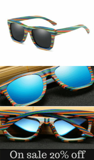 Tumblr, Blog, and Glasses: On sale 20% off novelty-gift-ideas:  Multi-color polarized Wooden Sunglasses