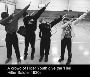 Meme title #1 by ThePizzapocolypse FOLLOW 4 MORE MEMES.: ON  SBRON  GIANTS  NTS  A crowd of Hitler Youth give the 'Heil  Hitler Salute. 1930s Meme title #1 by ThePizzapocolypse FOLLOW 4 MORE MEMES.