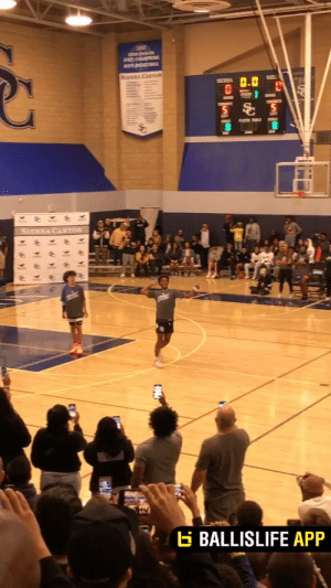 Bronny's got the moves! Sierra Canyon midnight madness has started! https://t.co/OFsAuViA5P: ON SON  SAPS  BOYS AKL  SURCASTO  SERRA  SIERRA CANTON  BALLISLIFE APP Bronny's got the moves! Sierra Canyon midnight madness has started! https://t.co/OFsAuViA5P