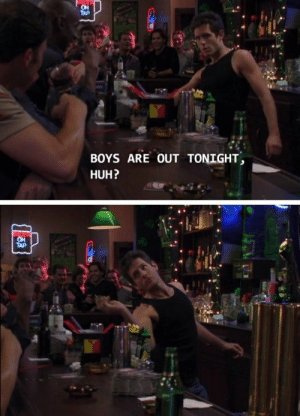 When season 14 rolls around and everyone comes crawling back to the sub for the premiere: ON  TAP  BOYS ARE OUT TONIGHT  HUH?  BEER  ON  TAP When season 14 rolls around and everyone comes crawling back to the sub for the premiere