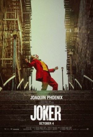 """On the poster for the movie about the joker, """"Joker"""" (2019) it says Joaquin Phoenix is the joker. This is a mistake, because the joker is from the batman comic books, and Joaquin Phoenix is a real human person, not a fake comic book man.: On the poster for the movie about the joker, """"Joker"""" (2019) it says Joaquin Phoenix is the joker. This is a mistake, because the joker is from the batman comic books, and Joaquin Phoenix is a real human person, not a fake comic book man."""