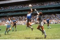 """On this day, Diego Maradona produced the """"Hand of God"""" against England in the 1986 World Cup. ⚽️👋: On this day, Diego Maradona produced the """"Hand of God"""" against England in the 1986 World Cup. ⚽️👋"""