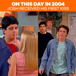 "15 years ago Josh received his first ""peck""...from Drake's girlfriend 😱: ON THIS DAY IN 2004  JOSH RECEIVED HIS FIRST KISS 15 years ago Josh received his first ""peck""...from Drake's girlfriend 😱"