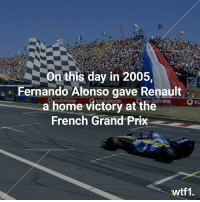 Fernando Alonso gave Renault a victory in Magny Cours on this day in 2005 f1 formula1 fernandoalonso renaultsportf1 wtf1: On this day in 2005,  Fernando Alonso gave Renault  a home victory at the  French Grand Prix  odatone  wtf1. Fernando Alonso gave Renault a victory in Magny Cours on this day in 2005 f1 formula1 fernandoalonso renaultsportf1 wtf1