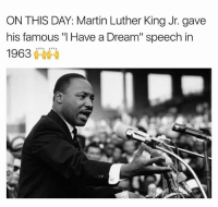 "A Dream, Martin, and Martin Luther King Jr.: ON THIS DAY: Martin Luther King Jr. gave  his famous ""I Have a Dream"" speech in  1963棘棘  6 The real GOAT 🙌🏾 Follow my backup @onlyinthehood for more!"