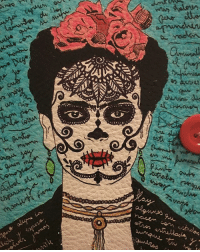 "Friends, Memes, and Selfie: On this DiaDeLosMuertos we remember and honor all of our friends and relatives that passed away. 🙇🏽‍♀️❤️💀🌹 DayOfTheDead ""I am my own muse, I am the subject I know best. The subject I want to know better."" - Frida Khalo Feminist Icon 