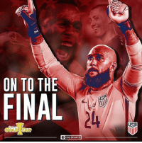 Memes, Sports, and Cbs: ON TO THE  Fl  US  24  USA  GOLDTCUP  O CBS SPORTS The USMNT is on the brink of GoldCup glory.