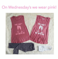 Girls, Happy, and Link: On Wednesday's we wear pink!  TOr SHEL  TOP SHELE  YOU CAN'T  YOU CAN'T  SIP WITH US  SIP WITH US Happy Mean Girls Day! 💅🏼 Take 20% OFF these must-have tops + sitewide at @weartopshelf with the code MARTINIS at checkout! 💕 (link in bio)