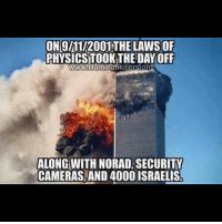 ON9/M1/2001 THE LAWS OF  PHYSICSTOOK THE DAY OFF  www.illuminatikillerslora  ALONG WITH NORAD, SECURITY  CAMERAS, AND 4000 ISRAELIS Go see the best video on this you will EVER see at http:-bit.do-IKnews please. It is the journalist who broke Watergate telling the truth live on MSNBC about Iraq and 9-11. Israel is the main culprit. HW Bush and Dulles legacy Neocons and entrenched Israelis pretending they're Americans next, and then Saudi Intelligence plus some other cooperative intelligence agencies (those interested in a war on Iran, essentially). . http:-bit.do-IKnews <- Do not miss this. I guarantee that after watching it for 13 min you will share it to everyone who ever doubted you. It's the best one so far and the narrative after Bernstein's confessions comes from Rev. Mark Dankof, a truth activist and alternative media analyst who has a great reputation. @niklawman