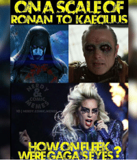 Memes, Quest, and Nerdy: ONA SCALE OF  ROMAN TO KAECANAIS  COMIC  IGINERDY.COMIC. MEMES  WEREGAOGATSEYES @nerdy.comic.memes - Kaecilius REALLY needs some lotion for that skin condition lol. Still bummed Ronan got killed off so easy. GaGa was amazing last night and I'm not even a fan. 🚨don't forget guys!🚨 CLICK THE LINK IN MY BIO! to listen to the latest episode of the UNCANNY COMIC QUEST