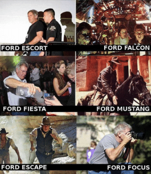 Memes, Focus, and Ford: ONAL  FORD FALCON  FORD ESCORT  FORD MUSTANG  FORD FIESTA  FORD ESCAPE  FORD FOCUS /r/memes = /r/terriblefacebookmemes