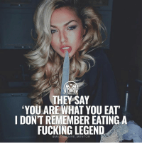 "👇Comment the word ""LEGEND"" letter by letter for a chance of a follow back! 🔥 millionairementor legend success beast: ONARE MENTOR  THEY SAY  'YOU ARE WHAT YOU EAT  I DONT REMEMBER EATING A  FUCKING LEGEND  @MILLFONAIRE MENTOR 👇Comment the word ""LEGEND"" letter by letter for a chance of a follow back! 🔥 millionairementor legend success beast"