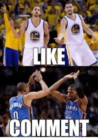 Nba, Thunder, and Nationals: ONBAMEMES  30  ARRA  ARRO  LIKE  CIY  COMMENT LIKE for Warriors Nation COMMENT for Thunder Nation