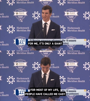 """Once a Giant, always a Giant.  For me, it's ONLY a Giant.""  Eli Manning says farewell after 16 years with the @Giants. (via @nflnetwork) https://t.co/R1q9i2SWcL: ""Once a Giant, always a Giant.  For me, it's ONLY a Giant.""  Eli Manning says farewell after 16 years with the @Giants. (via @nflnetwork) https://t.co/R1q9i2SWcL"