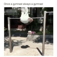 Memes, 🤖, and How: Once a gymnast always a gymnast How can he do that?!😳😂