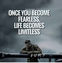 limitless: ONCE Just Innovate  CO  FEARLESS.  LIFE BECOMES  LIMITLESS