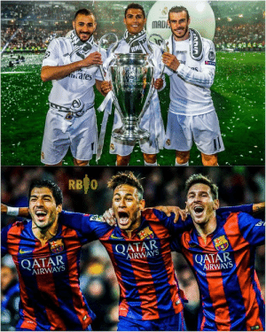 Once upon a time there were two Greatest trios who ruled the football ♥ 👑 🔥  MSN x BBC 🥺 https://t.co/kDXuYkkYch: Once upon a time there were two Greatest trios who ruled the football ♥ 👑 🔥  MSN x BBC 🥺 https://t.co/kDXuYkkYch