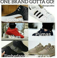 Which brand you letting go? 🤔👟 @worldstar WSHH: ONE BRAND GOTTA GO!  NA@escape.editss  Adidas  Jorda  Timber an Which brand you letting go? 🤔👟 @worldstar WSHH