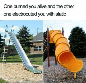 Alive, Dope, and Memes: One burned you alive and the other  one electrocuted you with static 27 Dope '90s Memes That Kids Today Just Won't Understand