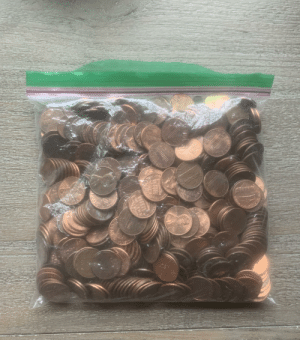 *Bag of pennies for sale* These are my pennies in a bag. Probably more than 5$ in pennies. I have not counted. U may buy them. Best offer by Friday, September 6th in the comments will be my buyer. Shipping prices may vary.: ONE CELT  ASMEPICA  ON CENT  CENY  ON *Bag of pennies for sale* These are my pennies in a bag. Probably more than 5$ in pennies. I have not counted. U may buy them. Best offer by Friday, September 6th in the comments will be my buyer. Shipping prices may vary.