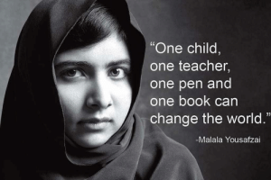 """Teacher, Tumblr, and Blog: """"One child  one teacher,  one pen and  one book can  change the world.""""  -Malala Yousafzai great-quotes:  """"one child,one teacher,one pen and one book can change the world."""" - malala yousafzai- [940x628]MORE COOL QUOTES!"""