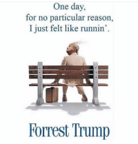 Boxing, Memes, and Chocolate: One day,  for no particular reason,  I just felt like runnin'  Forrest Trump Mama always said life is like a box of chocolates... and that you should grab it by the p****.... 😂