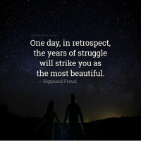 Memes, Struggle, and Sigmund Freud: One day, in retrospect,  the years of struggle  will strike you as  the most beautiful  Sigmund Freud You are stronger than your struggle. Inspired by Tim @prosperityquotes markiron