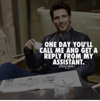 Adele, JLo, and Memes: ONE DAY YOU'LL  CALL ME AND GET A  REPLY FROM NY  ASSISTANT.  @SUCCESSES Tag someone 😂🙌!!👇 - 👉 Follow : @spencertsilva - Successes - - ➖➖➖➖➖➖➖➖➖➖➖➖➖ @leomessi @kimkardashian @jlo @adele @ddlovato @katyperry @danbilzerian @kevinhart4real @thenotoriousmma @justintimberlake @taylorswift @beyonce @davidbeckham @selenagomez @therock @thegoodquote @instagram @champagnepapi @cristiano