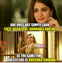 Anushka Sharma.: ONE DOES NO  CUTELBEAUTIFUL ADORABLE ANDHOT  RVC J  WWW. RV CJ.COM  AT THE SAME TIME  UNLESS ANUSHKASHARMA Anushka Sharma.