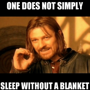 a66d674c61 Funny, Memebase, and Memes: ONE DOES NOT SIMPLY SLEEP WITHOUT A BLANKET  Doesn