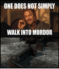 Brad White!  #danzigmemes: ONE DOES NOT SIMPLY  WALK INTO MORDOR Brad White!  #danzigmemes