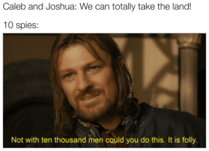 One does not simply walk into the promised land: One does not simply walk into the promised land