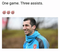 Arsenal, Memes, and Game: One game. Three assists.  C) (C)(C  Arsenal Change of scenery can do a player good 👏😀 Mhkitaryan Arsenal Change