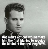 PearlHarbor wasn't the only location attacked 76 years ago today. 1st Lt. George Cannon became the first Marine to earn the Medal of Honor in WWII for his actions on Midway.: One man's actions would make  him the first Marine to receive  the Medal of Honor during WWl. PearlHarbor wasn't the only location attacked 76 years ago today. 1st Lt. George Cannon became the first Marine to earn the Medal of Honor in WWII for his actions on Midway.