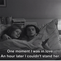 """Love, Board, and Her: One moment I was in love.  An hour later I couldn't stand her. Bed & Board (1970) aka """"Domicile conjugal"""""""