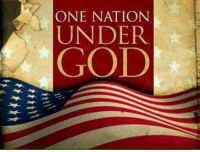Blessed, God, and Memes: ONE NATION  UNDER  GOD Good morning Patriots! Have a blessed day everyone! 🇺🇸 ~AngelVet~