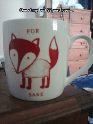 srsfunny:Quite Possibly The Best Mug Ever: One of my best S2 purchases.  FOR  SAKE srsfunny:Quite Possibly The Best Mug Ever