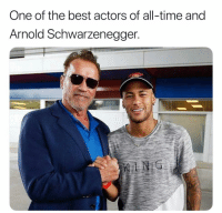 Arnold Schwarzenegger, Football, and Memes: One of the best actors of all-time and  Arnold Schwarzenegger. Go Follow @FootyHero 🤩 It's the 1 football page!