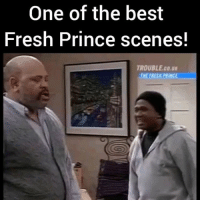 Fresh, Memes, and Prince: One of the best  Fresh Prince scenes!  TROUBLE co.ug  TNEERESA PRINCE This freshprinceofbelair scenes will forever get you in your feelings! WillSmith's acting here was just too real ! What's your favorite FreshPrince scene? @pmwhiphop @pmwhiphop @pmwhiphop @pmwhiphop