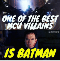 Batman, Life, and Memes: ONE OF THE BEST  HCU VILLAINS  ALL THINGS HERO  IS BATMAN Of course... :p no but seriously Michael Keaton is such a talented actor he brings life and dimensions to pretty much any role he plays. Smart move casting him as vulture. Batman vulture michaelkeaton spidey Spiderman spidermanhomecoming